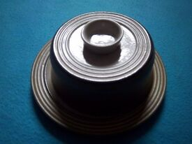 Pottery Cheese Platter / Dish & Cover IP1