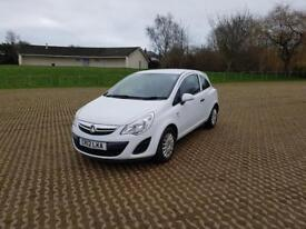 VAUXHALL CORSA 1.0 ecoFLEX S 3dr - Cheap to tax and Insure (white) 2012