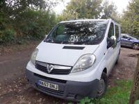 Vauxhall vivaro 2008 crew cab 2.0 cdti 12 months mot