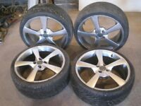 WOLFRACE 18 INCH WHEELS AND TYRES SUIT RENAULT TOYOTA SUZUKI VW 4X100