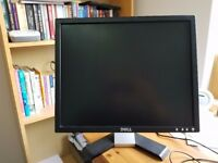 """Dell 19"""" E197FP TFT LCD VGA Computer Monitor Screen, Removable Stand- power/VGA cables included"""