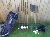 full set of golf clubs all you need driver hybrid irons balls