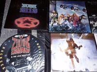 Various rock vinyl records