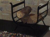 Log Basket, Wrought Iron by Jim Lawrence