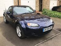 MAZDA MX-5 1.8 OPTION BACK IN METALLIC BLUE WITH BLACK LEATHER 07379239455