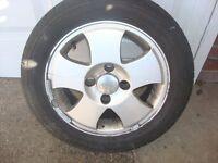 alloy wheel & tyre 185 55 14 ford fiesta