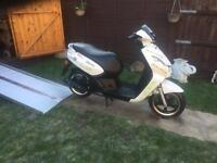 2012 PEUGEOT KISBEE 50 U - IDEAL CBT LEARNER SCOOTER - ONLY 17609 MILES - MOT - FULL V5 + SPARES