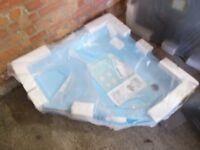 2 x corner shower tray 1.1570x336 new