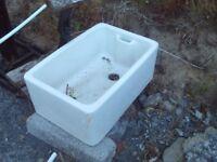 Large Belfast Sink for Garden display