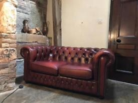Vintage two seater chesterfield