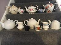 Jugs ,teapots and cups and saucers