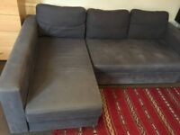IKEA Manstad Corner sofa-bed with chaise longue and storage