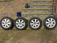 """16"""" Alloy Wheels with Avon Winter Tyres - Set of 4"""