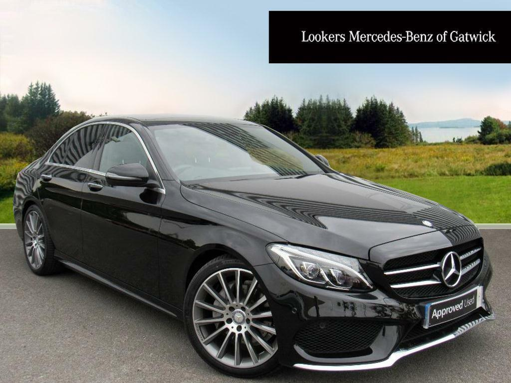 mercedes benz c class c220 d amg line premium black 2016 09 01 in crawley west sussex gumtree. Black Bedroom Furniture Sets. Home Design Ideas