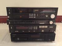 Technics and Pioneer tap, cd and amp player