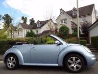 STUNNING! IMMACULATE! (2005) VOLKSWAGEN BEETLE CABRIOLET 1.6 ONLY 75K MILES/FSH+TIMING BELT REPLACED