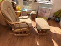 Kub rocking chair with foot stool. Hardly used great condition