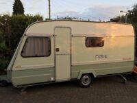 Well Loved Well Used Good Condition 5 berth Family Caravan. Clean and Dry Great Starter Van