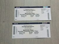 2 x Red Hot Chilli Peppers tickets Manchester Arena Thursday 15th December