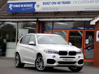 BMW X5 3.0 XDRIVE30D M SPORT 5dr AUTO (255) ** 7 Seats + Pro Nav + 4WD Auto ** (white) 2015