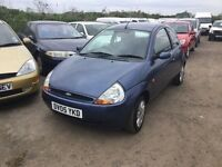 2005 FORD KA IN VGCONDITION LOW MILEAGE FULL SERVICE HISTORY DRIVES LIKE NEW STILL IN LOVEKY BLUE
