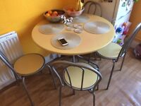 kitchen table and 4 chairs for sale