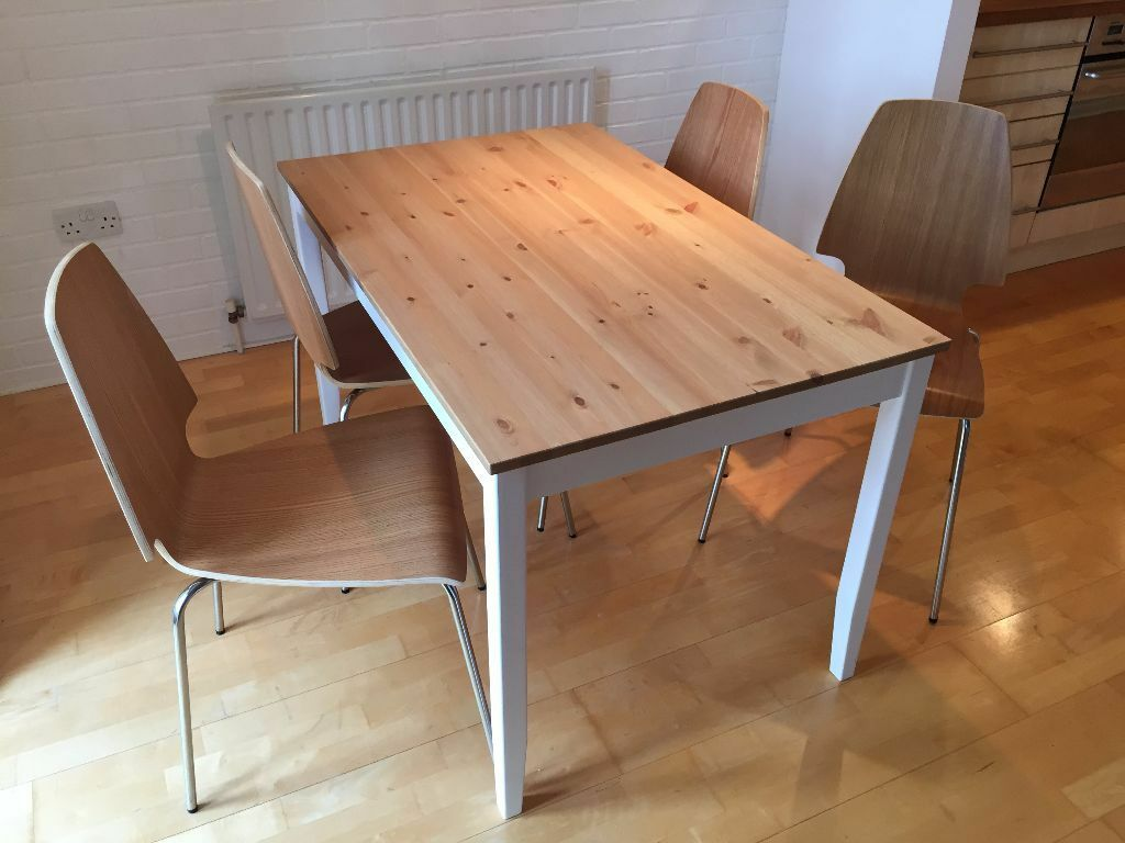 Ikea lerham table and 4x vilmar chairs in the shore for Table ikea 4 99