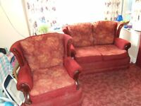 3 PIECE SUITE. 2 SINGLE AND 1 TWO SEAT SETTEE. 3 YEARS OLD. MINT CONDITION