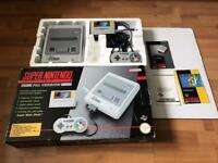Snes Super Nintendo boxed console Super marioworld