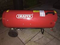 Draper JET FORCE, PROPANE SPACE HEATER WITH WHEELS