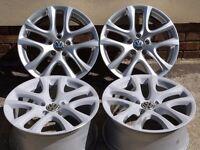 "17"" Volkswagen Scirocco Donington Alloy Wheels Alloys 5x112pcd Audi Seat Skoda"