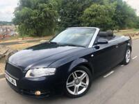 2006 FACELIFT AUDI A4 SPORT 2.0 TDI CONVERTIBLE 6 SPEED 140 BHP # 2 owners # s/h # e/hood # cruise