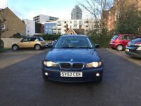 2002 BMW 325i 192BHP AUTOMATIC 4 DOORS SALOON 12 MONTHS MOT 99K WARRANTED MILES FULL LEATHER HPI CL