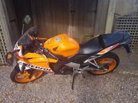 Honda CBR 125 R Repsol orange learner legal motorbike. Low mileage. £2100 ONO
