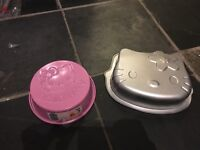 Lots of different baking tins and bits