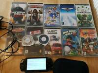 Psp with games and case charger