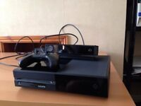 Xbox 0ne, Owned from New with Kinect and Controller + 9 Tidy Games