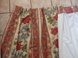 Curtains - one pair of lined curtains in very good condition for sale