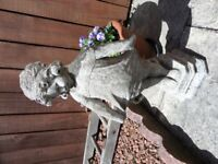 Little lady solid stone garden ornament for sale