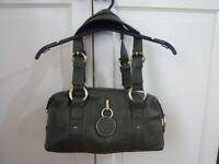 Jasper Conran Jeans Green Leather grab Womens Handbag ~ Size Small