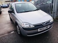 VAUXHALL CORSA 1.2 AUTOMATIC PETROL 3 DOORS LOW MILEAGE 2002 CLUB FULL HISTORY 1 OWNER 59000 MILES