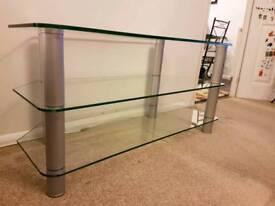 Large TV / HI-FI glass, corner stand