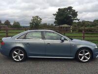 Audi A4 Saloon s line . Auto diesel. Blue