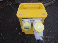 Carroll & Meynell 110v transformer with 2 x outlets