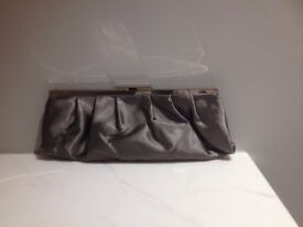 NEW - NEVER WORN Shiny light brown clutch bag - £5.00 only