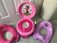 Minnie mouse musical potty& toilet seats