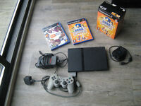 Sony PS2 Slim Playstation, 1 Controller, Eye Toy and 2 Eye Toy Games