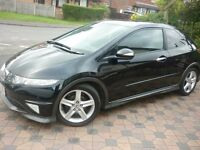 Black Honda Civic Type-s GT I-vtec 3DR