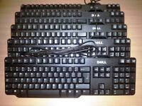 Job lot of 10 x DELL USB Standard Keyboard