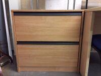 Side Filer, Finished In Oak. 750mm Width x 600mm Depth. 1 In Stock.